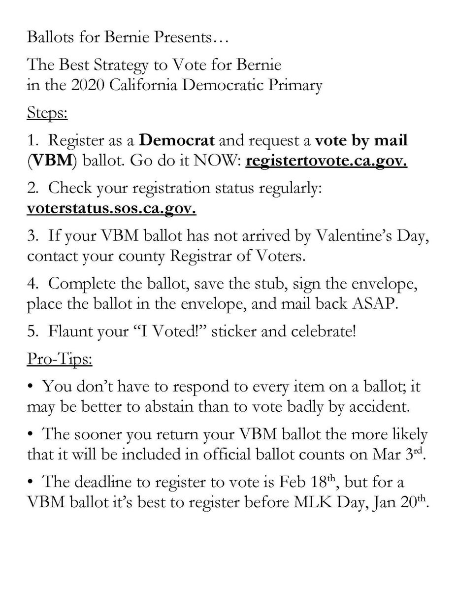California Voting Tips