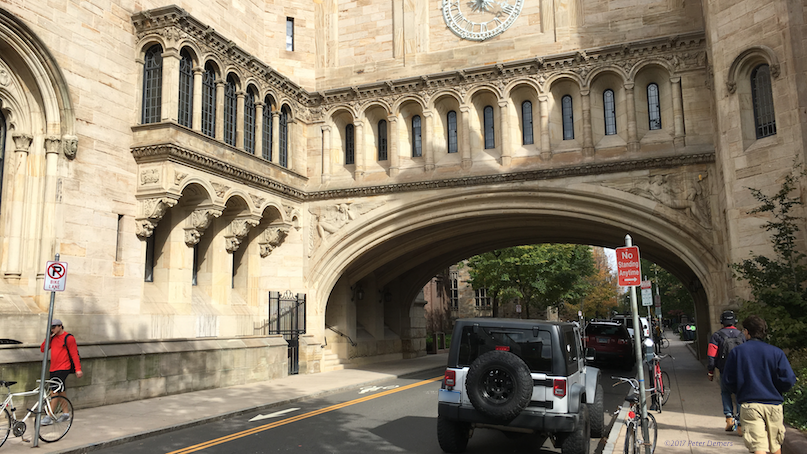 Yale, an entrance, New Haven Connecticut