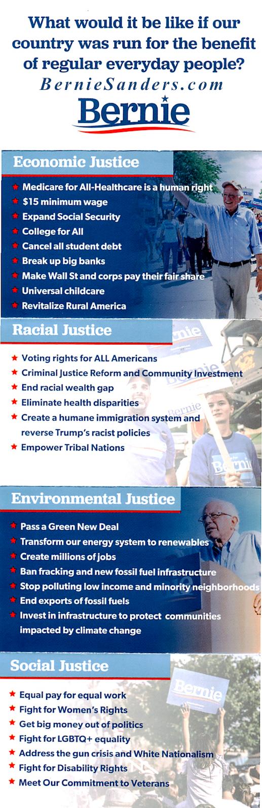 Bernie info panel