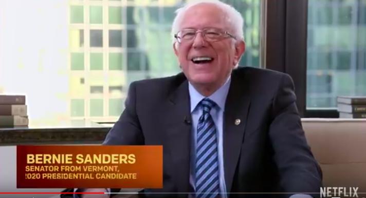 Bernie Sanders on Patriot Act with Hasan Minhaj (screenshot)