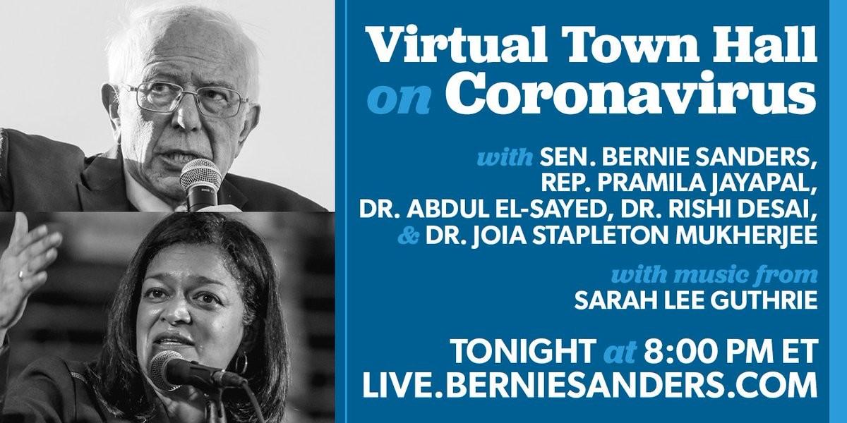 poster: Bernie Sanders Coronavirus Medical Update 03242020