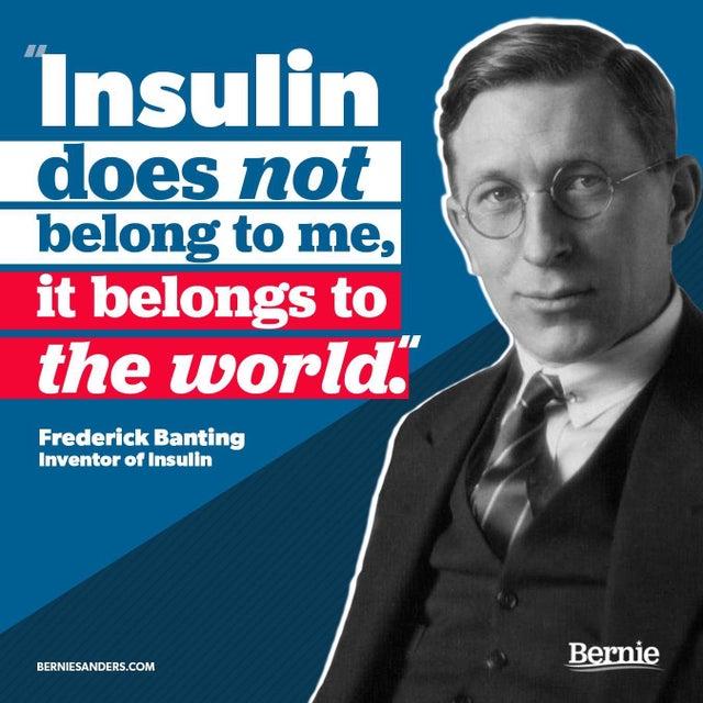 Insulin belongs to the world.