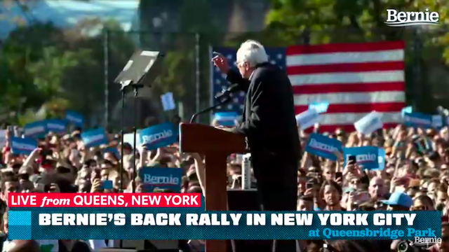 Bernie Is Back Rally in Queens