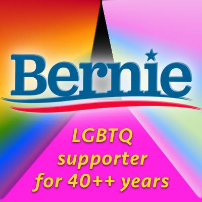 Bernie supports LGBTQ Equality