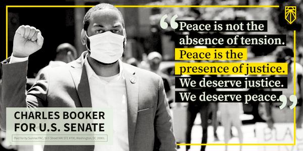 Charles Booker for U.S. Senate, Peace, Justice