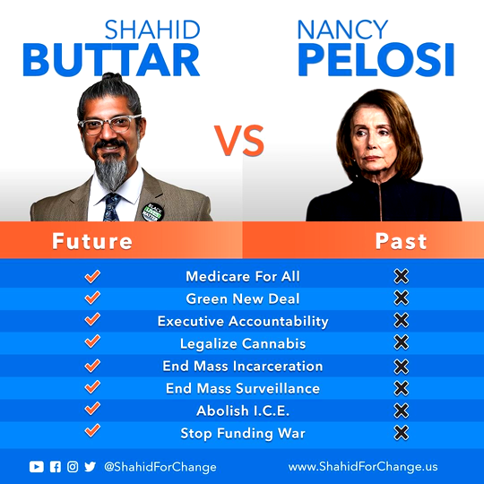 Shahid Buttar vs. Nancy Pelosi