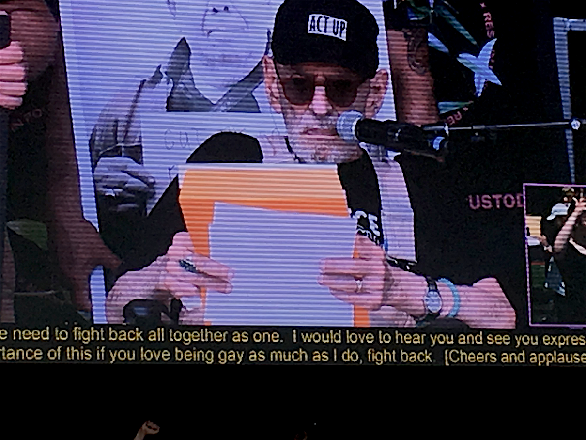 Larry Kramer at QLM Rally
